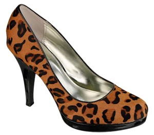 Alfani Pony Hair Platform Macy's Brand 60% Off Retail Animal Print and Chocolate Pumps