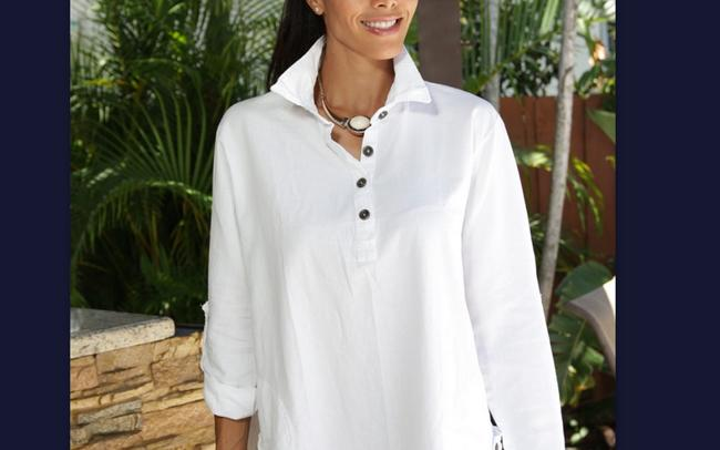 Lirome Embroidered Casual Summer Country Western Tunic Image 3