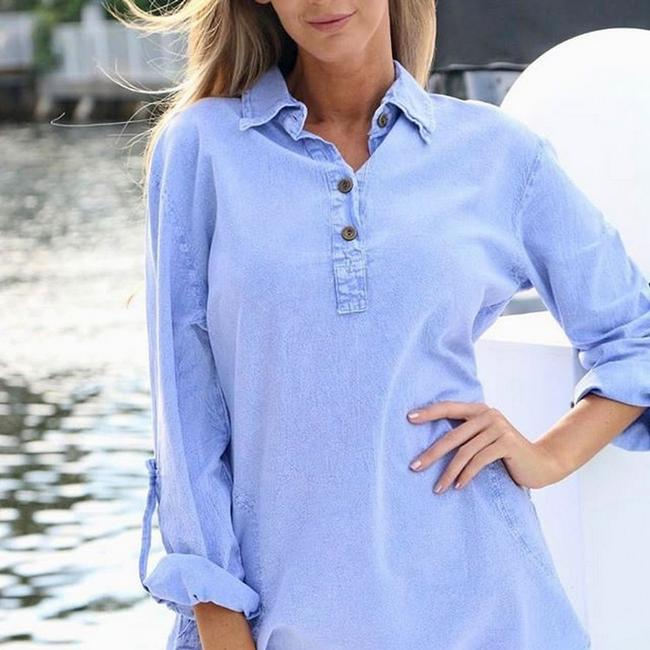Lirome Embroidered Casual Summer Country Western Tunic Image 8
