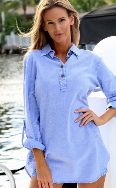 Lirome Embroidered Casual Summer Country Western Tunic Image 9