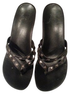 Gianni Bini Black and silver Wedges
