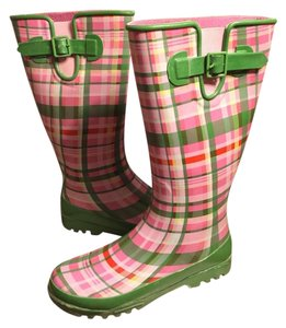 Sperry White/Pink/Green Boots