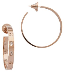 Tory Burch New Tory Burch Pierced Logo T Hoop Earrings