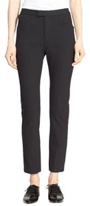 Rag & Bone & Sullivan Fitted Stretch Trouser Pants Black