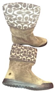Coach Suede Wool Brown and taupe Boots