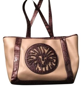 Anne Klein Tote in Tan & Metallic Brown