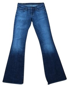 Citizens of Humanity Low Waisted Flare Leg Jeans-Medium Wash