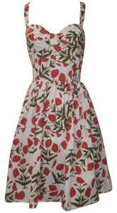 Oscar de la Renta short dress Red White on Tradesy
