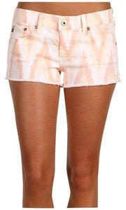 AG Adriano Goldschmied Stretchy Low-rise Frayed Shorts Ikat Orange