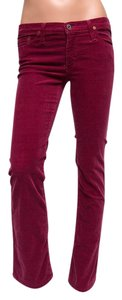AG Adriano Goldschmied Boot Cut Corduroy Boot Cut Pants Red