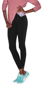 PINK Comfortable Yoga Black/Light Pink Leggings