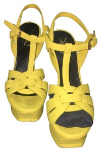 Saint Laurent Yellow Platforms