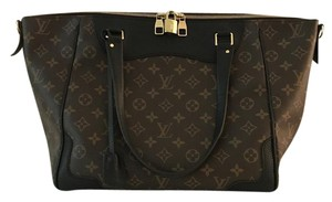 Louis Vuitton Leather Monogram Tote in Brown/Black