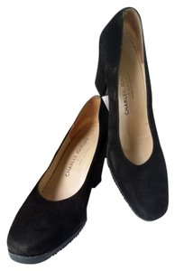 Charles Jourdan Suede Slip Resistant Sole Black Pumps
