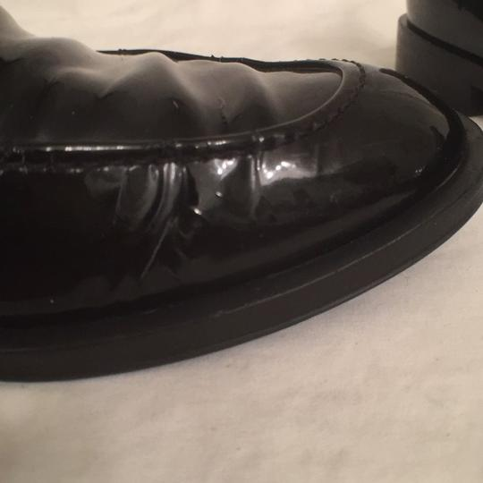 Salvatore Ferragamo Patent Leather Leather Slip Ons Loafers Black Flats Image 10