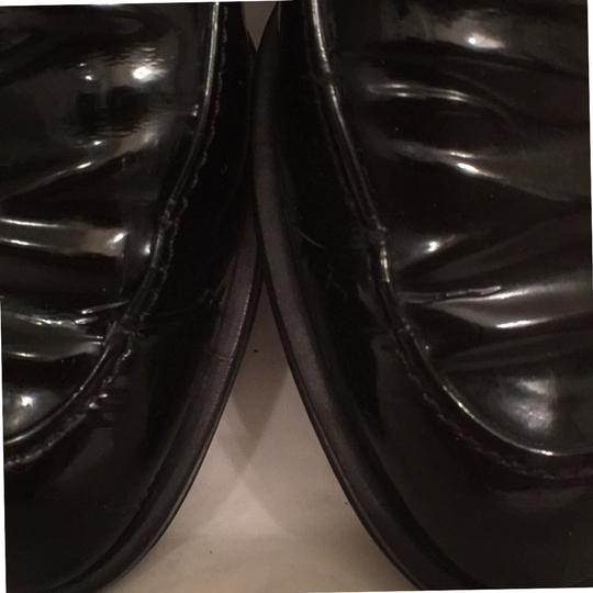 Salvatore Ferragamo Patent Leather Leather Slip Ons Loafers Black Flats Image 11