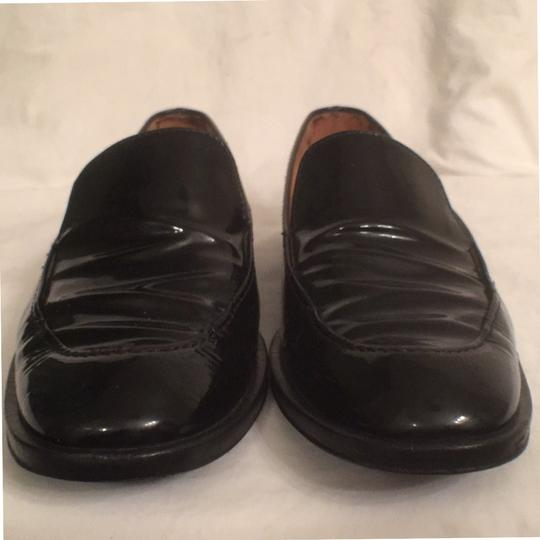 Salvatore Ferragamo Patent Leather Leather Slip Ons Loafers Black Flats Image 4
