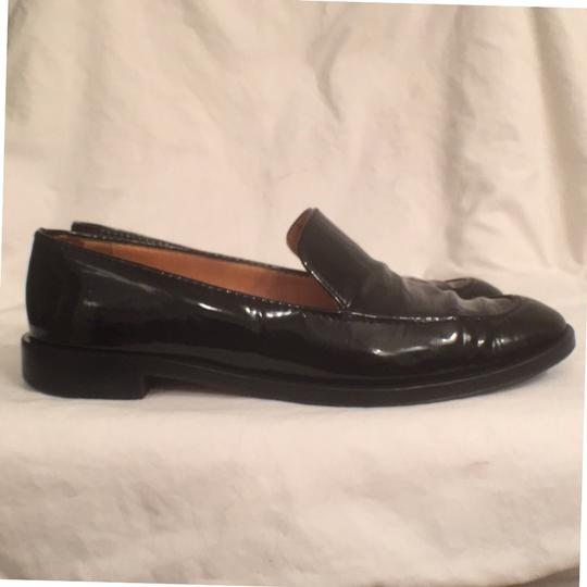 Salvatore Ferragamo Patent Leather Leather Slip Ons Loafers Black Flats Image 5