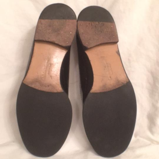 Salvatore Ferragamo Patent Leather Leather Slip Ons Loafers Black Flats Image 7