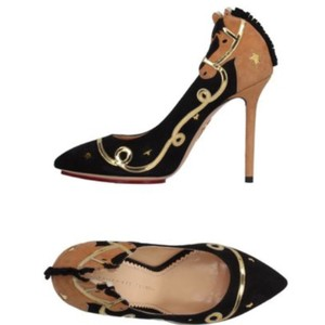 Charlotte Olympia Sophia Webster Gold Star Pumps