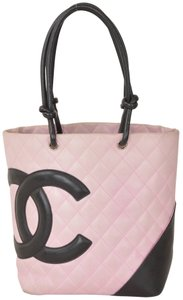 Chanel Cambon Quilted Leather Tote Shoulder Bag
