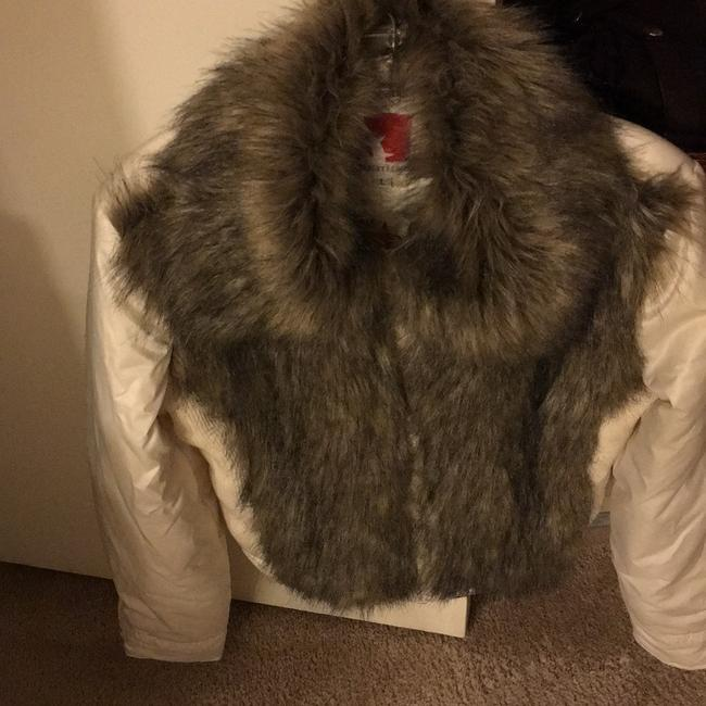 Gsus Industries Imported Made In Holland Winter white Jacket Image 3
