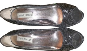 Steve Madden Black,sequence Pumps