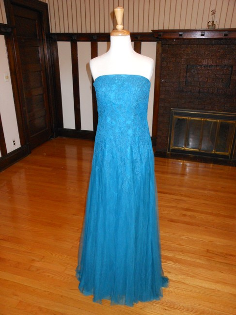 Item - Smooth Green Rebecca Long Cocktail Dress Size 12 (L)