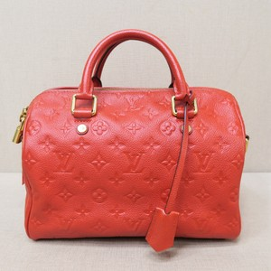 Louis Vuitton Lv Empreinte Speedy Satchel in red