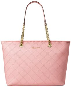 Michael Kors Jet Set Tote in Pink Blossom Gold tone