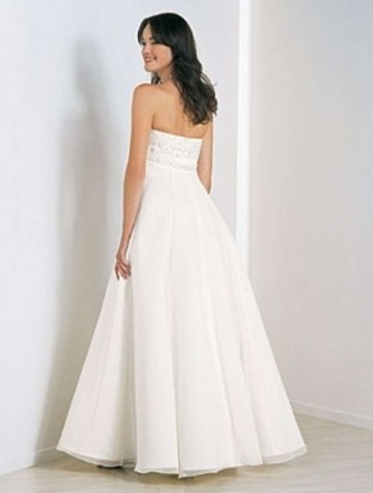 Alfred Angelo White 1505 Formal Wedding Dress Size 10 (M)