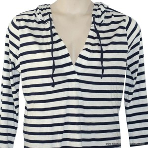 Ann Taylor LOFT Pullover Sweater Striped Nautical Sweatshirt