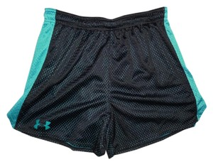 Under Armour Drawstring Running Gym Shorts Teal, Black