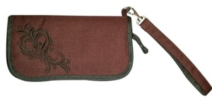 REI Wallet Wristlet in Maroon red