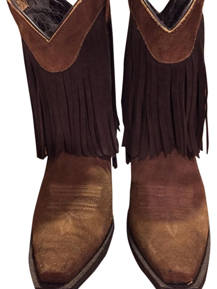 4a7a63ddd8b Ariat New From Sheplers. Gold Rush Fringe Cowgirl Boots/Booties Size US 6.5  Regular (M, B) 73% off retail