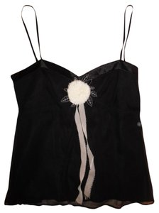 White House | Black Market Lingerie Floral Embroidered New Top Black, Ivory