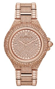 Michael Kors NWT Michael Kors Women Rose Gold Camille Glitz Bracelet Watch