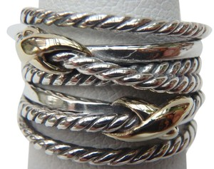 David Yurman like new with pouch Double X Ring With Gold size 8