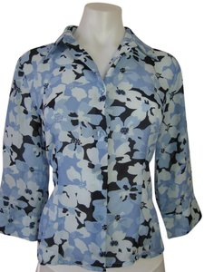 Apostrophe Top Blue Floral
