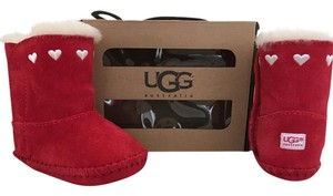 UGG Australia Austrailia New In Box Red and White Boots