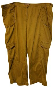 Taillissime Snap Military Pockets Comfortable Cargo Pants Olive Green