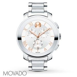 Movado Movado Bold 3600205 Two Tone Stainless Chronograph Watch