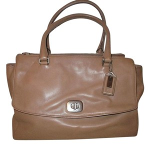Coach Leather Pinnacle Harper 23563 Satchel in tan