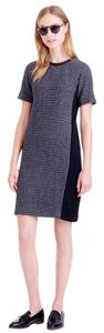 J.Crew short dress Black Gray Leather on Tradesy