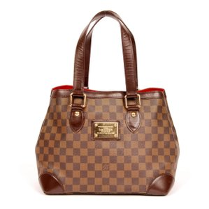 Louis Vuitton Damier Canvas Damier Leather Tote in Damier Ebene