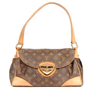 Louis Vuitton Monogram Canvas Beverly Gold Hardware Front Flap Shoulder Bag