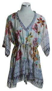 Johnny Was Woven Silk Dolman Floral Tunic