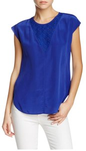 Rebecca Taylor Silk Top Tanzanite