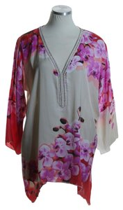Boston Proper Woven Dolman Floral Printed Tunic