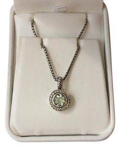David Yurman 925 Sterling Silver Albion Prasiolite Diamond Chain Necklace